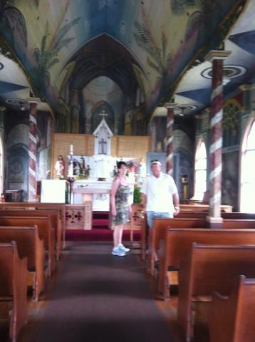painted church a must see on the Big Island