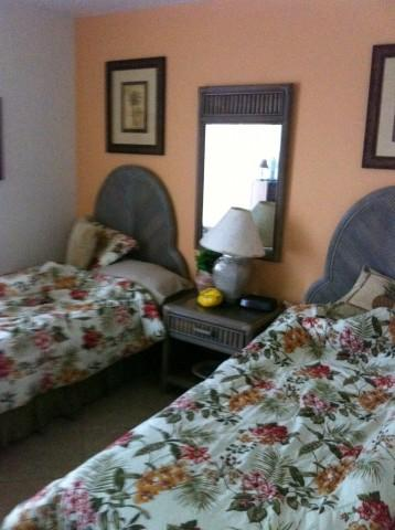 twin beds in guest room