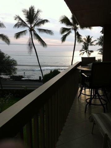 lanai with great ocean views